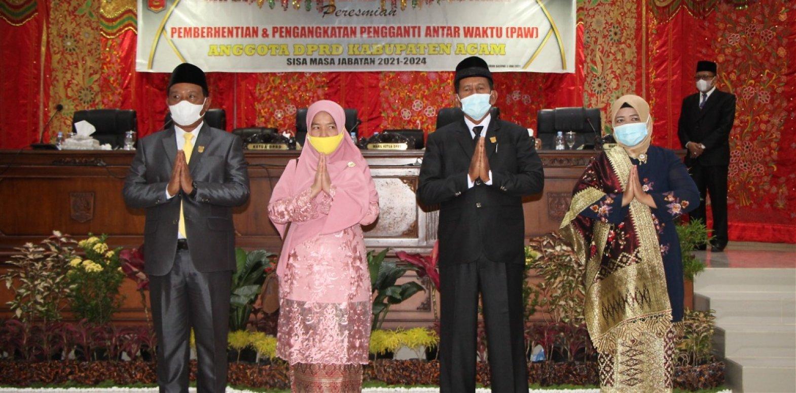 DPRD Agam Gelar Paripurna PAW Dua Anggota Dewan