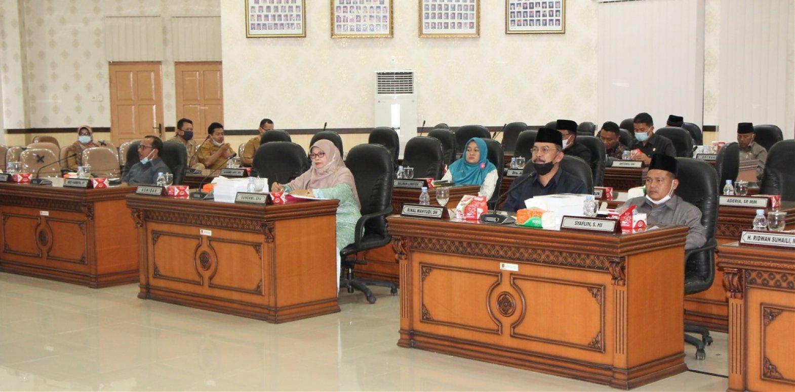 DPRD Kabupaten Agam gelar  Rapat Paripurna Penyampaian Nota Bupati  tentang Ranperda Pertanggungjawaban APBD Kabupaten Agam  Tahun 2020