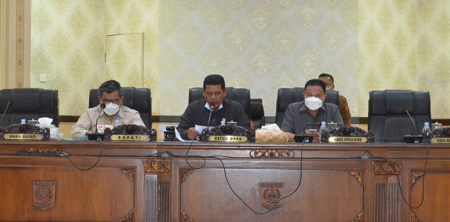 DPRD Agam Gelar Paripurna Penyampaian Nota Penjelasan RPJMD 2021-2026