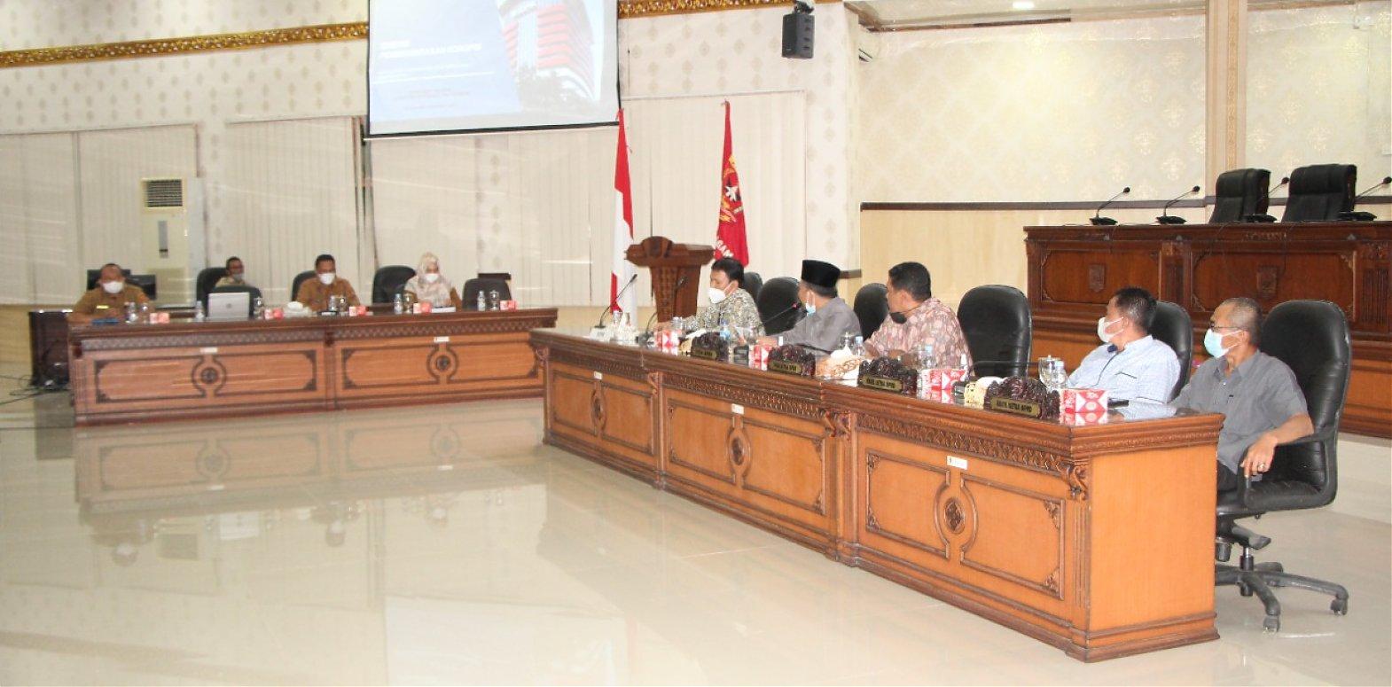 KPK Sosialisasi Program  Pencegahan Korupsi Terintegritasi Dengan  DPRD Agam.